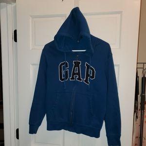 Gap Mens Small Zip Up Blue Hoodie Jacket Small